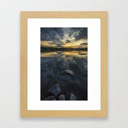 Horse Lake Framed Art Print