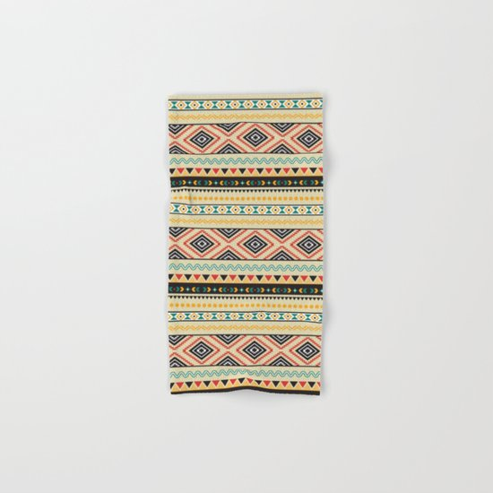 Tribal #3 * Ethno Ethnic Aztec Navajo Pattern Boho Chic Hand & Bath Towel