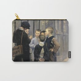 The Meeting by Marie Bashkirtseff - Vintage Victorian Retro Fine Art Oil Painting Carry-All Pouch