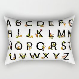 Spanish Alphabet Rectangular Pillow
