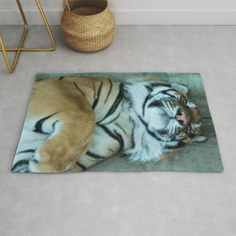 Sleepy Bengal Tiger Rug