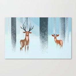 Deer's snow Canvas Print