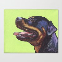 rottweiler Canvas Prints featuring Rottweiler  by ArtEndeavors
