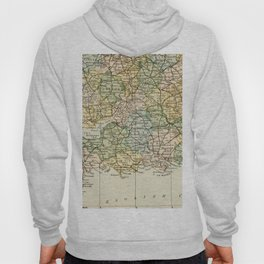 England and Wales Vintage Map Hoody