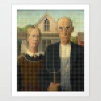Lego: American Gothic Art Print