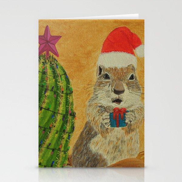 Christmas Squirrel.Arizona Rock Squirrel Christmas Stationery Cards By Deedeemaz