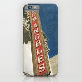 1931 Los Angeles Theatre Vintage Sign iPhone Case
