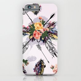 Be wild. Boho watercolor feathers. Fashion iPhone Case