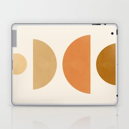 Abstraction_Geometric_Shape_Moon_Sun_Minimalism_001D Laptop & iPad Skin