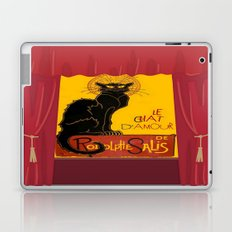 Le Chat D'Amour with Theatrical Curtain Border Laptop & iPad Skin