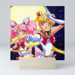 Fighting Evil By Moonlight  Mini Art Print