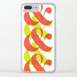 Colorful Ampersand Clear iPhone Case