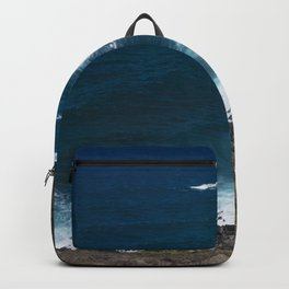 Hawaii Tropical Turquoise Ocean Cove With Bubbly Surf Backpack