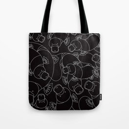 Minimalist Platypus Black and White Tote Bag