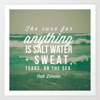salt water Art Prints featuring Salt Water Cure by Olivia Joy StClaire