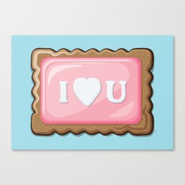 ZA-Cookie: I Love U Canvas Print