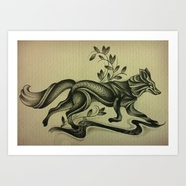 river fox Art Print