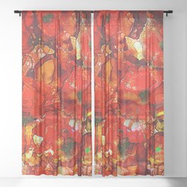 Poppies Sheer Curtain