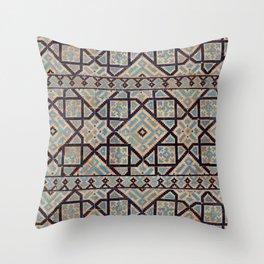 Samarkand blue ornament Throw Pillow