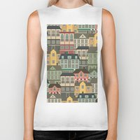 urban Biker Tanks featuring Urban by Julia Badeeva