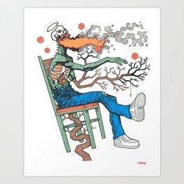 Walking Suicide Art Print