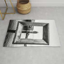 Medieval Collioure Church | Notre-Dame-des-Anges Mediterranean Coast France Black and White Rug