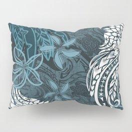 Polynesian Distressed Tribal Layered Print Pillow Sham