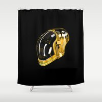 daft punk Shower Curtains featuring Daft Punk by Naje Anthony Hart