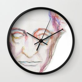 Goethe death mask Wall Clock