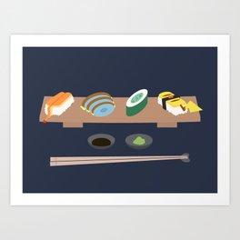 Poke Sushi Art Print