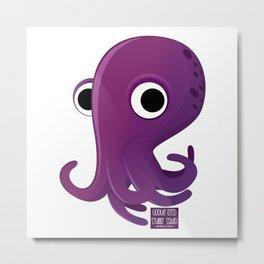 Googly-Eyed Stubby Squid Metal Print