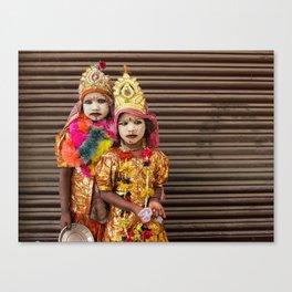 Diwali girls Canvas Print