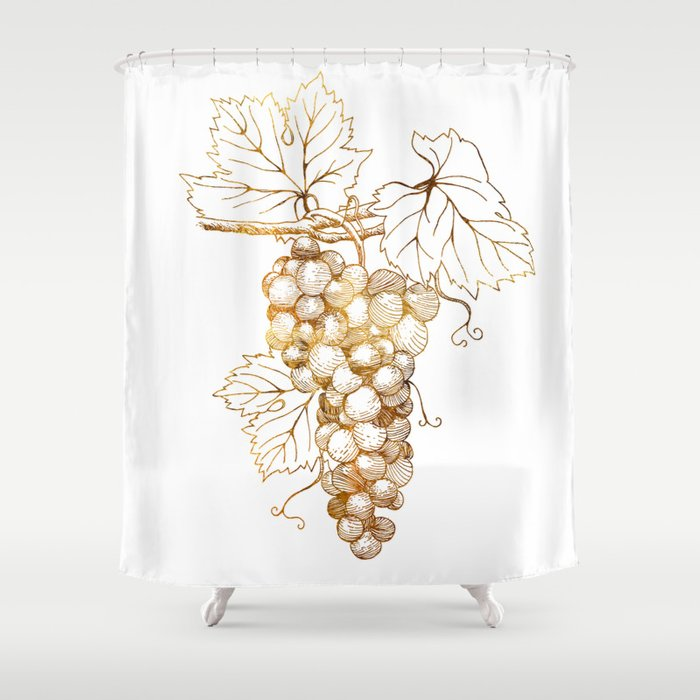 Grapes Of Dionysus God Wine Shower Curtain By Cfjohnsondesigns