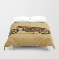 ducati Duvet Covers featuring Ducati 750GT 1971 - Classic motorcycle by Larsson Stevensem