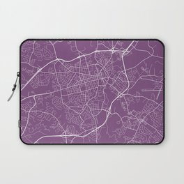 Athens Map, USA - Purple Laptop Sleeve