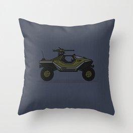 Halo Warthog Throw Pillow