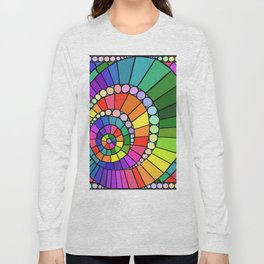Rainbow Spiral Long Sleeve T-shirt