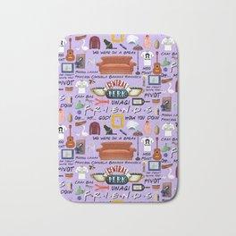 Friends Collage, purple Bath Mat