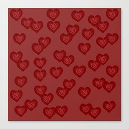 Red Hearts Canvas Print