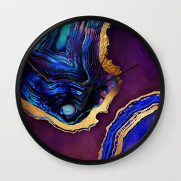 Agate Abstract Wall Clock