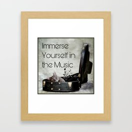 Milonga Cat - Immerse Yourself in the Music Framed Art Print