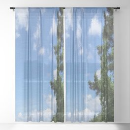 Spring Blue Sky Sheer Curtain