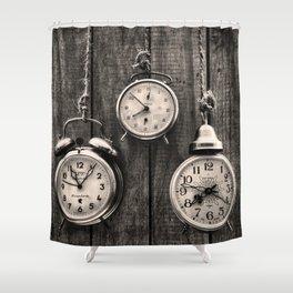Vintage Clocks Shower Curtain