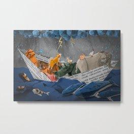 Noah's Paper Boat Metal Print