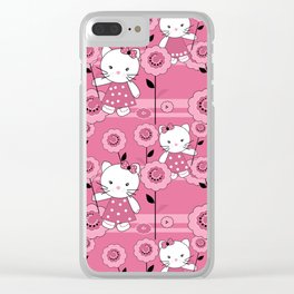 A small kitten . Clear iPhone Case