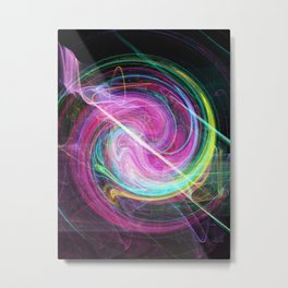 Stirred Metal Print