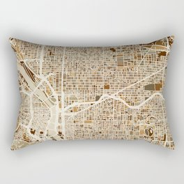 Portland Oregon City Map Rectangular Pillow
