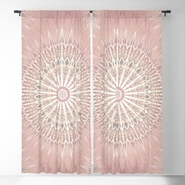 Rose Tan Geometric Mandala Blackout Curtain
