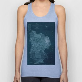 Map Of San Francisco 1857 Unisex Tank Top