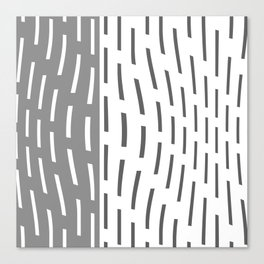 Pattern In Gray And Whte Canvas Print